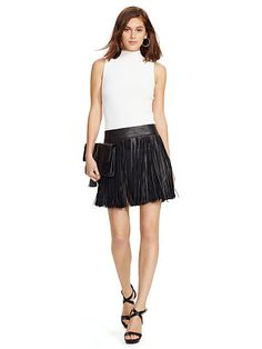 Ralph Lauren offers luxury and designer men's and women's clothing, kids' clothing, and baby clothes. Polo Ralph Lauren Shorts, Leather Mini Skirts, Short Skirts, Cool Outfits, Ballet Skirt, Clothes For Women, My Style, Shopping, Smooth Leather