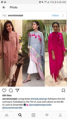 cute outfits to wear Pakistani Outfits, Indian Outfits, Kurta Style, Look Short, India Fashion, Indian Fashion Trends, Mode Hijab, Draped Dress, Indian Ethnic Wear