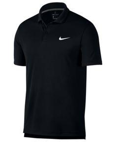 197fd576d5c7c Nike Men s Court Dry Tennis Polo - Black 2XL Nike Outfits