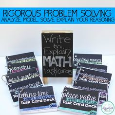 These task cards are on another level. Give your students practice with modeling, in-depth problem solving and explaining their math reasoning with these unique math task cards.