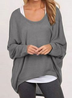 T Shirt Women Casual Long Camisetas Mujer Batwing Sleeve Loose TShirt Pink Tunic Shirt Tops Size S Color Beige Sweater Shirt, Long Sleeve Sweater, Asymmetrical Sweater, Pullover, Loose Tops, Casual Tops, Sweaters For Women, Women's Fashion, Fashion Online