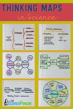 Using the 8 Thinking Maps in Science: Examples and Pics. Input and Output. Thinking Maps® are visual representations for different thought processes. We can use Thinking Maps in science. Science Notes, Science Education, Teaching Science, Science Activities, Life Science, Science Experiments, Physical Science, Science Projects, Science Worksheets