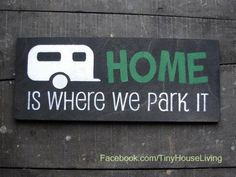 "#Camping sign - #TinyHouseLiving - join us and ""Like"" our #Facebook Page :-)"