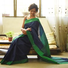 Presenting our exclusive collection of linen sarees specialised with zari yarn woven for shine and glaze.This collection blends comfort with glamour and eco-friendly composition, perfect for the upcoming season. Note: The model is wearing a different blouse for the shoot.The saree comes with an attached blouse piece. The last photograph is of the blouse piece.
