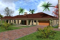 Overall Dimensions- x mBathrooms- 2 Car GarageArea- Square meters Tuscan House, Square Meter, Home Collections, House Plans, House Design, Building, Outdoor Decor, Bedrooms, Houses