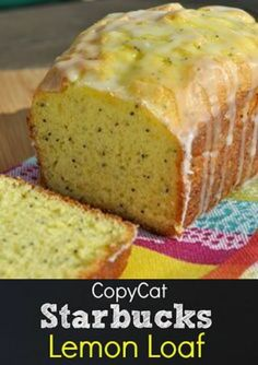 Easy Glazed Lemon Poppy Seed Bread A delicious and easy recipe for lemon poppy seed bread. Serve as a snack, at brunch or as a dessert. Quick Banana Bread, Cake Mix Banana Bread, Quick Bread, Fruit Bread, Bread Cake, Loaf Cake, Dessert Bread, Pound Cake, Easy Brunch Recipes