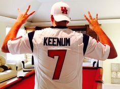 QB Case Keenum #7 Houston Texans Houston Cougars Eat em up, eat em up, go Coogs go!