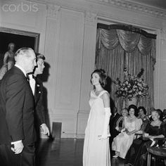 """jacqueline-the-american-queen: """" Jacqueline Kennedy and President Kennedy with the nobel prize winners. """""""