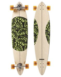 GLOBE MONSTERA PINTAIL LONGBOARD SKATEBOARD   NATURAL MONSTERA Globe  Longboard, Longboard Design, X Games