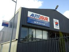Enseignes lumineuses pour Autosur Controle Technique Automobile, Rhone, Loire, Broadway Shows, Signs, Illuminated Signs, Building Facade, Flag, Shop Signs