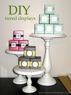 DIY Tiered Display Stands.Great for craft show displays.