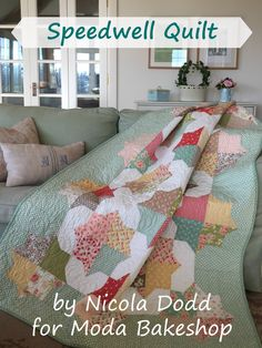 Speedwell Quilt Cover.... love these colors and pattern, on my to-do list...................