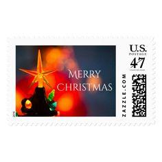 Mid Century Ceramic Christmas Tree Star Postage