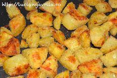 Cartofi: crocanți pe dinafară, moi pe dinlăuntru Meatless Recipes, Snack Recipes, Snacks, Chips, Ethnic Recipes, Food, Salads, Tapas Food, Appetizer Recipes