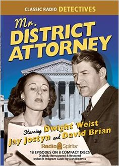 District Attorney is a popular radio crime drama, produced by Samuel Bischoff, which aired on NBC and ABC from April to . Radios, Money Machine, Old Time Radio, Pursuit Of Happiness, Star David, Internet Radio, Spring Fever, Face Down, Detective