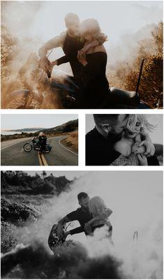 Smoke Bomb Motorcycle Engagement Photography | Alternative Rock 'n Roll Bride | San Francisco Bay Area California Wedding Photographer