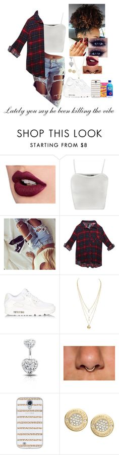 """""""Bryson Tiller"""" by kidinkonlywifeey ❤ liked on Polyvore featuring WearAll, Wet Seal, NIKE, Bling Jewelry, Casetify and Michael Kors"""