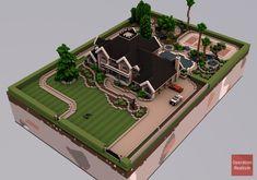 Modern Minecraft Houses, Minecraft House Plans, Minecraft Mansion, Minecraft Structures, Minecraft City, Minecraft House Designs, Amazing Minecraft, Minecraft Construction, Minecraft Bedroom