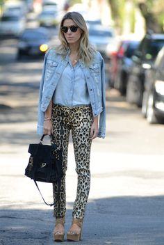 G71 Meu Look: Jeans on Jeans on Leopard Meu Look Leopard Print Jeans Jaqueta Jeans