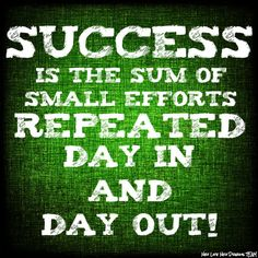 SUCCESS is the sum of small efforts repeated day in and day out! https://reneereynolds.myitworks.com