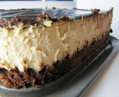 """Peanut Butter Cheesecake...My guts just said, """"Eat it. I dare you. Hope you don't have plans to go out."""""""