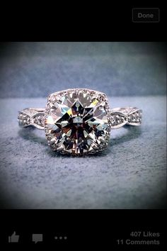 Tacori has gorgeous rings.... Stunning #engagementring love the cut <3