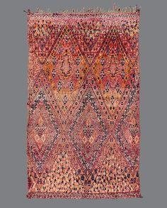 Vintage Moroccan rug, Beni M'Guild #BG92