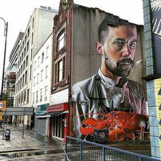 regram @tschelovek_graffiti @smugone in Belfast Northern Ireland for @culturenightbel #culturenightbel #CNB16 #HTN16 #hitthenorth #culturenightbelfast. Location: 88-94 High Street Court Belfast BT1. Photo by @peeveesee. #smugone #smug #Belfast #Belfaststreetart #streetartBelfast #graffitiBelfast #Belfastgraffiti #StreetartUK #ukstreetart #ukgraffiti #graffitiuk #граффити_tschelovek #streetart #urbanart #graffiti #graffitiart #wallpainting #muralpainting #artederua #arteurbana #muralart…