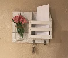 This is the perfect mail organizer for any home decor. It is stained and sealed in a custom white color. Can be painted in any color variation to match any home. Color may vary depending on wood selection. All handmade using reclaimed wood. Measures 12.50 Long x 10.50 High x 5.50 Deep **Can be painted in solid or distressed as shown if requested**