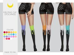 Stockings Melting Cat Made to Mix by Kalewa-a at TSR • Sims 4 Updates