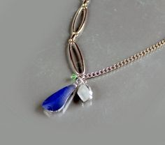 Super Long OOAK Sea Glass Jewelry Necklace . Starting at $5 on Tophatter.com!