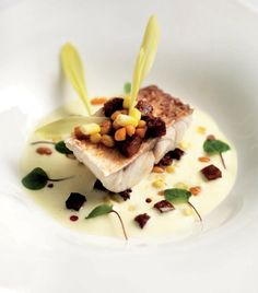 Miele Summer Recipe: Steamed Red Mullet with a Sweetcorn Sabayon, Caramelised Chorizo and Cannellini Beans