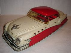 "RARE 1950s 20"" Marx Buick Battery Operated Tin Litho Toy Car w Orig Roof Intact"