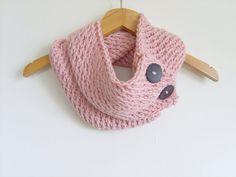 Knitting Cowl Knit Pattern Scarf  / Pink by AnatolianAccessories, $39.90