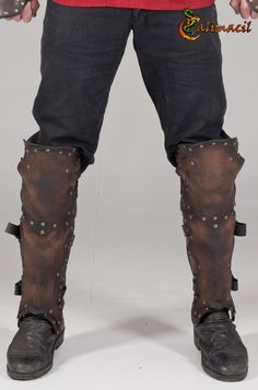 Brown leather greaves...Calimacil