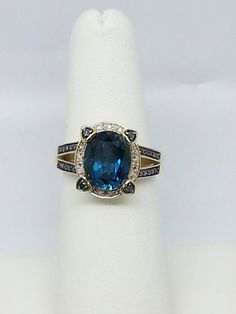 London Blue Topaz 3.37ct Oval w Blue & White by bgexoticgems, $329.99