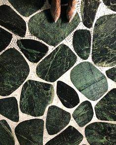 Maybe the best terrazzo ever? (Or at least most photographable) Floor Patterns, Tile Patterns, Textures Patterns, Floor Design, Tile Design, Get On The Floor, Terrazzo Flooring, Stone Tiles, Marble Tiles