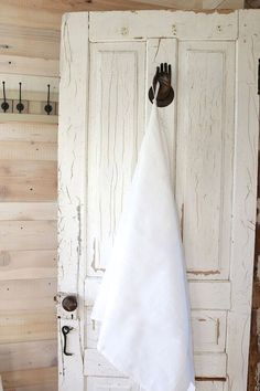 White Linen towel  Natural linen hand / face towel от pureWHITEspa