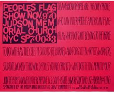 The 1960s: The People's Flag Show by Faith Ringgold
