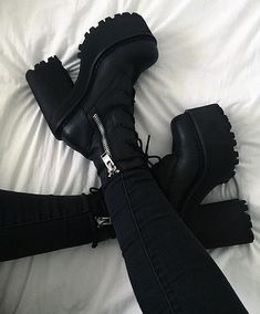 goth outfits with platforms platforms goth + gothic platforms + pastel goth platforms + goth platforms aesthetic + goth outfits platforms + black platforms goth + platforms boots gothic + goth outfits with platforms Grunge Shoes, Goth Shoes, Grunge Outfits, Shoes Heels, Heeled Boots, Shoe Boots, Aesthetic Shoes, Dream Shoes, Platform Boots