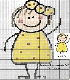 Boneca palito amarela   Flickr - Photo Sharing!