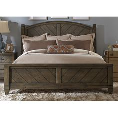 Liberty Modern Country Harvest Brown Posterbed (Modern Country Harvest Brown Queen Posterbed)