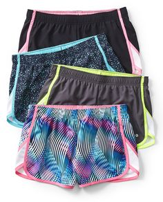 You'll bring your A-game in our quick-dri shorts with mesh-fabric insets and bright design. The best part? No-chafe seams. Click to shop!