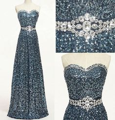 Discount Sequin Dress Sweetheart Crystal Formal Dress Custom Made Wedding Party Dress Evening Long Prom Dress Plus Size Dress 2015 New Fashion E60 Online with $127.75/Piece | DHgate