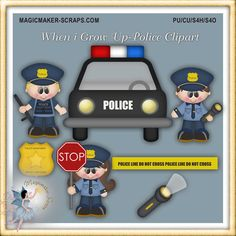 When I Grow Up - Police Clipart