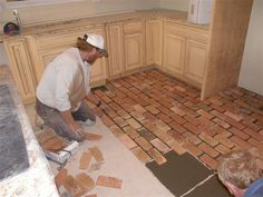 i can definitely do this if they can. (laying a brick floor)