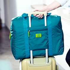 large capacity men's nylon bags Travel Water Proof Unisex Travel Handbags Women Luggage Travel Duffel Bag Folding Bags
