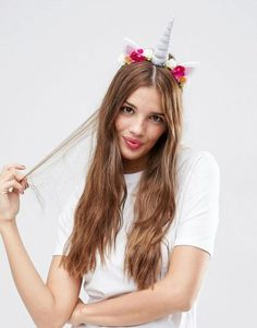 Search for asos halloween at ASOS. Shop from over styles, including asos halloween. Discover the latest women's and men's fashion online Unicorn Halloween, Unicorn Costume, Unicorn Party, Asos, Headband Hairstyles, Diy Hairstyles, Head Wrap Headband, Flower Headbands, Crown Headband