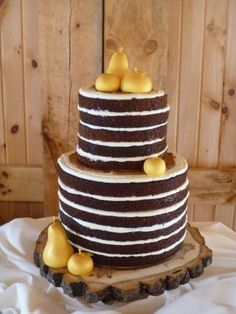 Love the idea of the cake for brides that do not like frosting also can add any flower