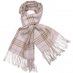 Women's 100% Merino Wool Pashmina Scarf - Classic Plaid